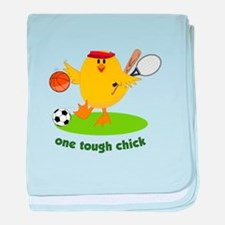 One Tough Chick baby blanket