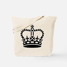 Black king crown Tote Bag