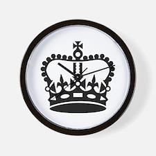 Black king crown Wall Clock