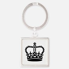 Black king crown Square Keychain