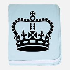 Black king crown baby blanket