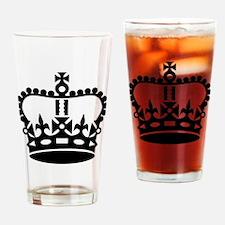 Black king crown Drinking Glass