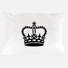 Black king crown Pillow Case