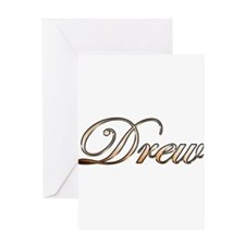 Gold Drew Greeting Cards
