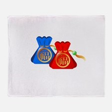 Chinese Gift Puch Bag Throw Blanket