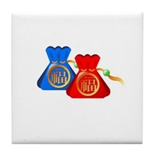 Chinese Gift Puch Bag Tile Coaster