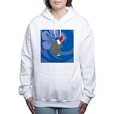 Cute King vulture Women's Hooded Sweatshirt