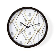 Five Lacrosse Sticks Wall Clock