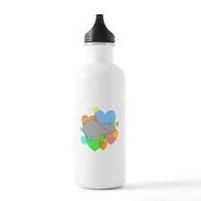 Hippo Hearts Water Bottle