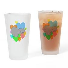 Hippo Hearts Drinking Glass