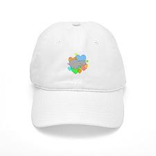 Hippo Hearts Baseball Cap