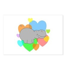 Hippo Hearts Postcards (Package of 8)