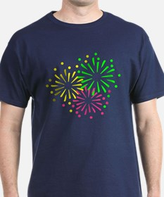 Colored Fireworks T-Shirt