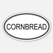 CORNBREAD (oval) Oval Decal