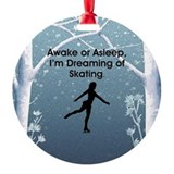 Figure skating Round Ornament