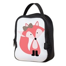 Cute Cute fox Neoprene Lunch Bag