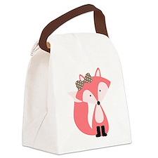 Cute Cute fox Canvas Lunch Bag
