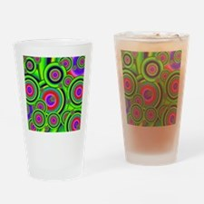 Psychedelic Spiral G Drinking Glass