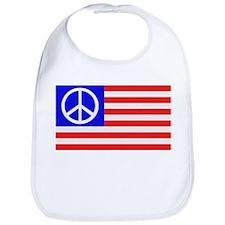 US flag peace Bib