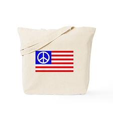 US flag peace Tote Bag