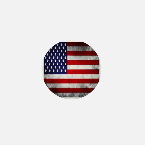 Vintage USA Flag Mini Button (10 pack)