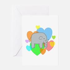 Elephant Hearts Greeting Card
