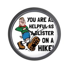 Blister On Hike Wall Clock
