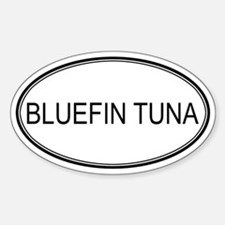 BLUEFIN TUNA (oval) Oval Decal