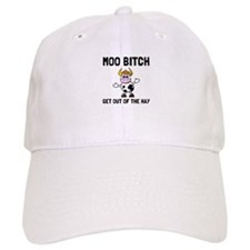 Moo Bitch Baseball Baseball Cap