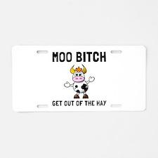 Moo Bitch Aluminum License Plate
