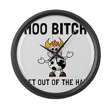 Moo Bitch Large Wall Clock