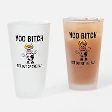 Moo Bitch Drinking Glass