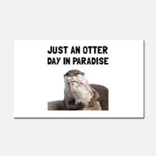 Otter Day Paradise Car Magnet 20 x 12