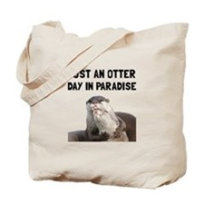 Otter Day Paradise Tote Bag