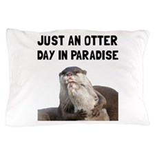 Otter Day Paradise Pillow Case