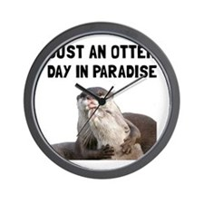Otter Day Paradise Wall Clock
