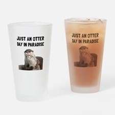 Otter Day Paradise Drinking Glass