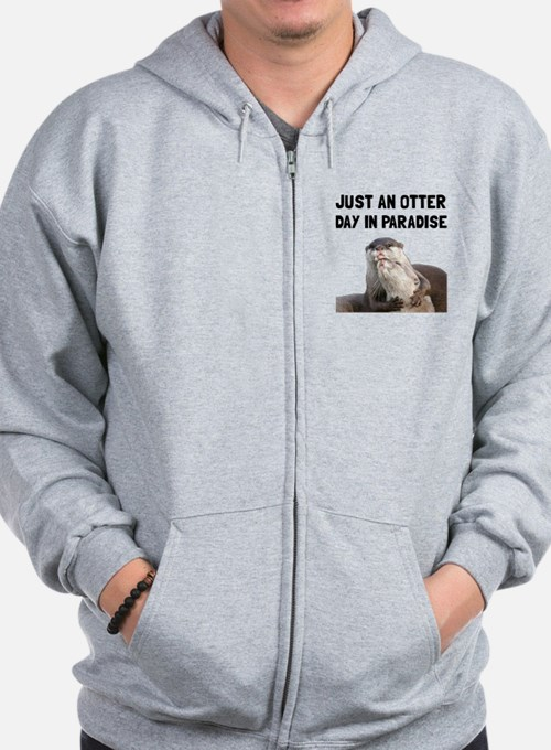 Otter Day Paradise Zip Hoodie