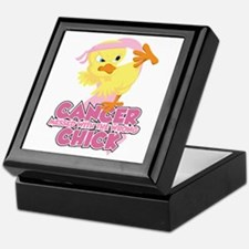 Breast Cancer Messed With Wrong Chick Keepsake Box