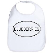 BLUEBERRIES (oval) Bib