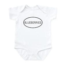 BLUEBERRIES (oval) Infant Bodysuit