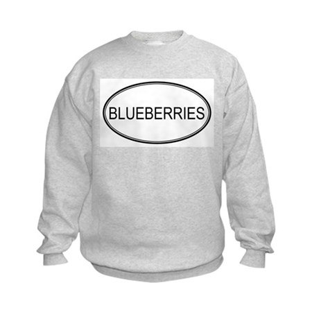 BLUEBERRIES (oval) Kids Sweatshirt