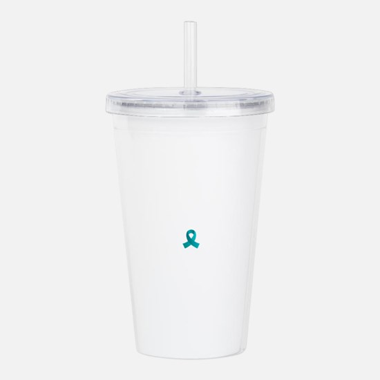 Unique Ovarian cancer awareness Acrylic Double-wall Tumbler