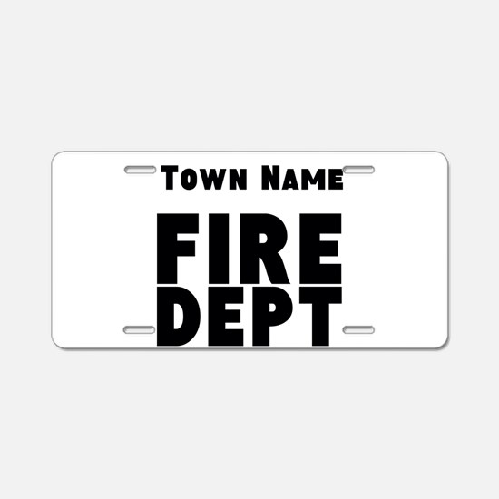Fire Department Aluminum License Plate