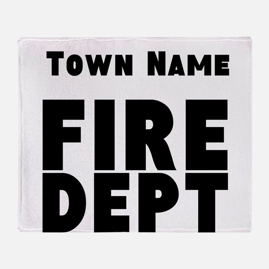 Fire Department Throw Blanket