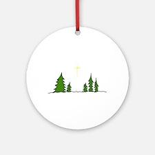 Evergreen Christmas Ornament (Round)