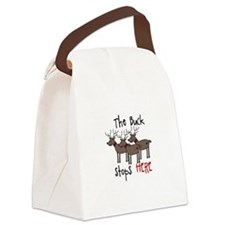 The Buck Stops Here Canvas Lunch Bag