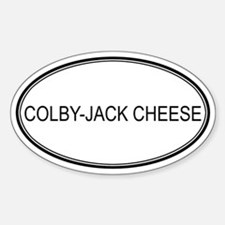 COLBY-JACK CHEESE (oval) Oval Decal