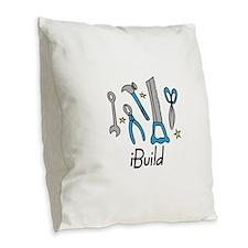 iBuild Burlap Throw Pillow