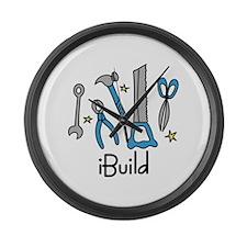 iBuild Large Wall Clock